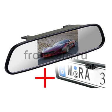 Зеркало + камера универсальная кубик в рамке